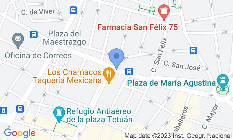 Localització del parking al mapa - Reservar una plaça al parking APK2 Clavé San Félix