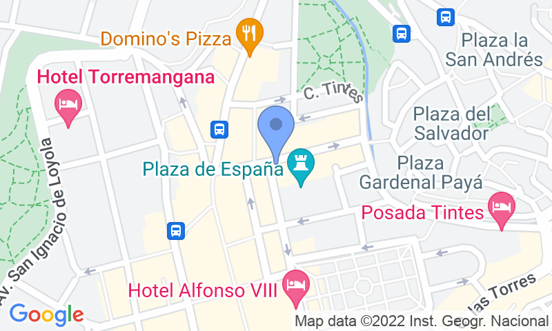 Parking location in the map - Book a parking spot in Plaza de España car park