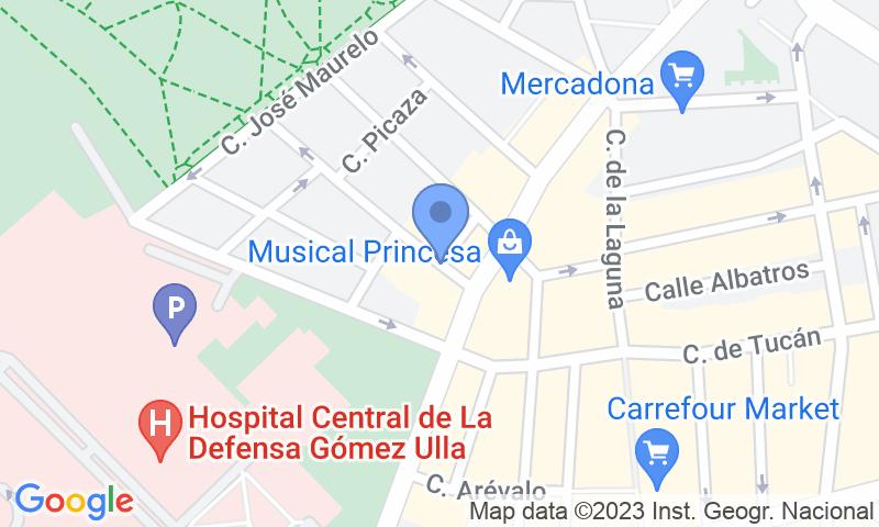 Parking location in the map - Book a parking spot in Gómez Ulla - Vista Alegre r. car park