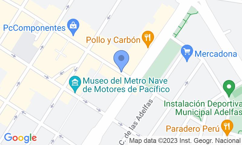 Localizzazione del parcheggio sulla mappa - Prenota un posto nel parcheggio Cavanilles r.