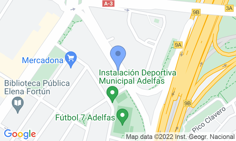 Localización del parking en el mapa - Reservar una plaza en el parking Fernández Shaw