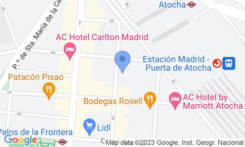 Localizzazione del parcheggio sulla mappa - Prenota un posto nel parcheggio Atocha Low Cost
