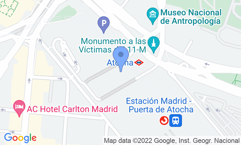 Parking location in the map - Parkingcar Estacion de Atocha - VIP