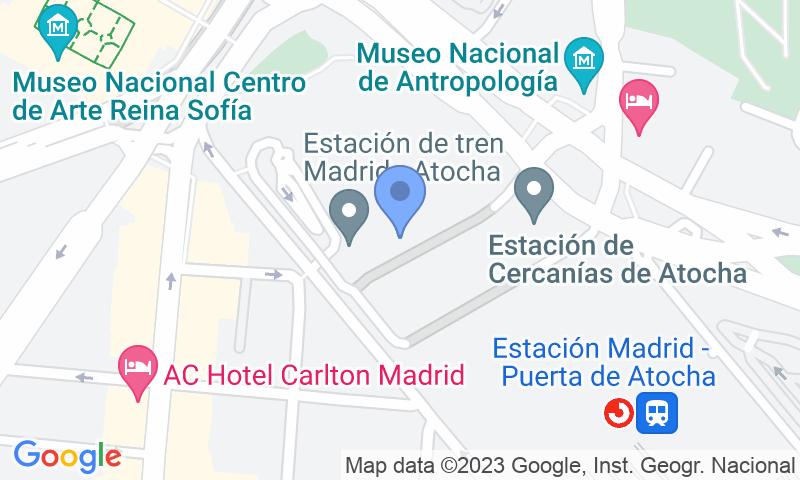 Emplacement du parking sur la carte - Réservez une place dans le parking Xpress Atocha - Valet