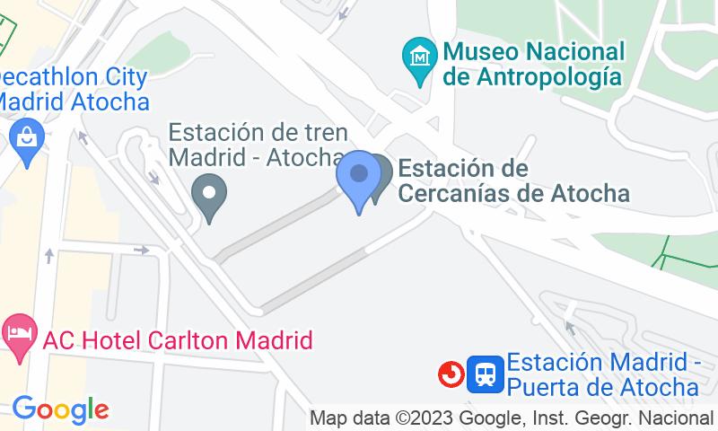 Lugar de estacionamento no mapa - Reserve uma vaga de  estacionamento no AparcaMadrid AVE- Atocha - Valet