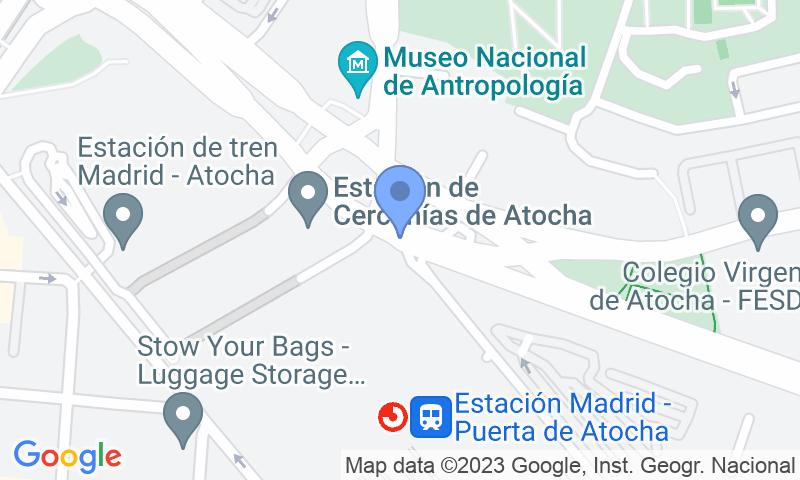 Localizzazione del parcheggio sulla mappa - Prenota un posto nel parcheggio SABA ADIF 14 días Estación Madrid Atocha P2-P3 Renfe - Holidays