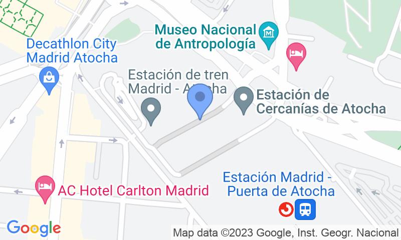 Localizzazione del parcheggio sulla mappa - Prenota un posto nel parcheggio Teleparking Atocha Servicio Valet