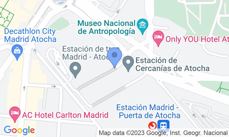 Localizzazione del parcheggio sulla mappa - Prenota un posto nel parcheggio Valeet Estación de Atocha