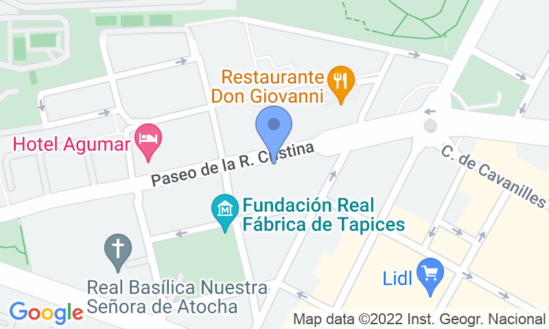 Localizzazione del parcheggio sulla mappa - Prenota un posto nel parcheggio Garca - Reina Cristina