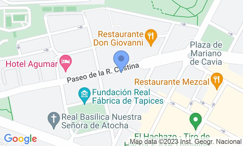 Localización del parking en el mapa - Reservar una plaza en el parking Garca - Reina Cristina