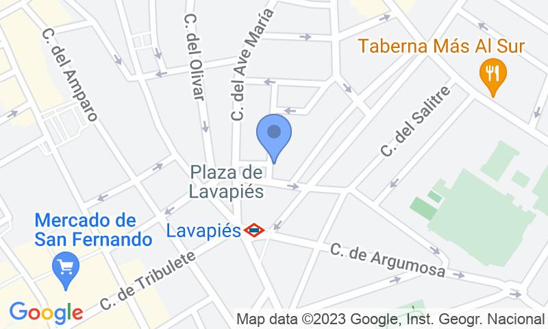 Localizzazione del parcheggio sulla mappa - Parking Vans Lavapies Primavera