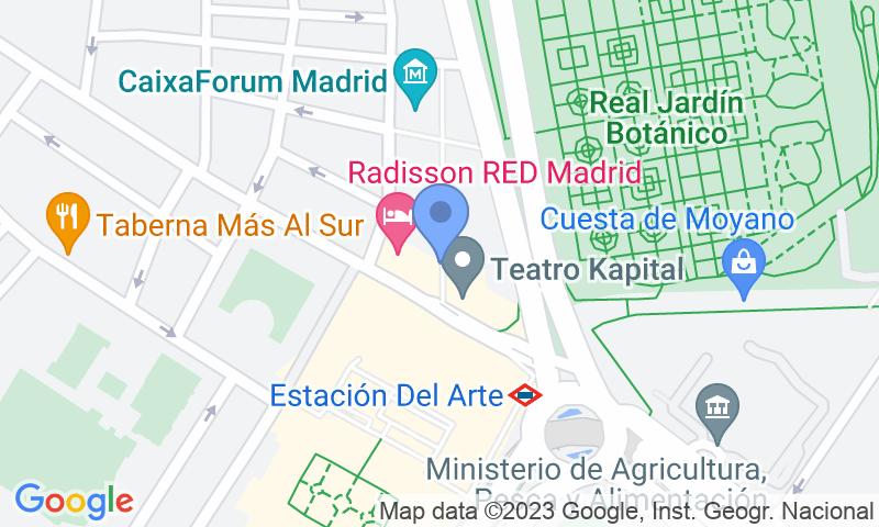 Localización del parking en el mapa - Reservar una plaza en el parking Homely - Atocha