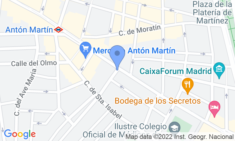 Parking location in the map - Book a parking spot in AparcaMadrid - Turismo car park