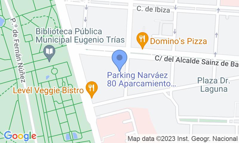 Localizzazione del parcheggio sulla mappa - Prenota un posto nel parcheggio Narváez 80