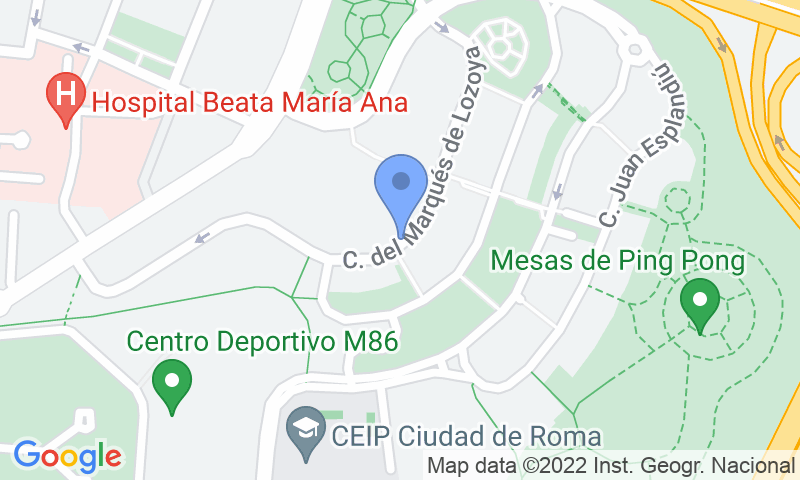 Localización del parking en el mapa - Reservar una plaza en el parking Magalar