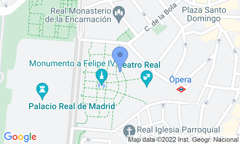 Localización del parking en el mapa - Reservar una plaza en el parking APK2 Plaza de Oriente