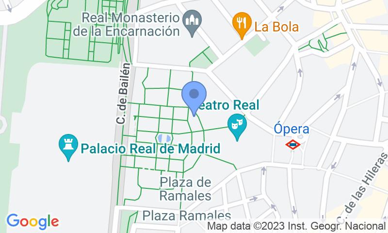 Расположение парковки на карте - Забронируйте паркоместо на стоянке APK2 Plaza de Oriente