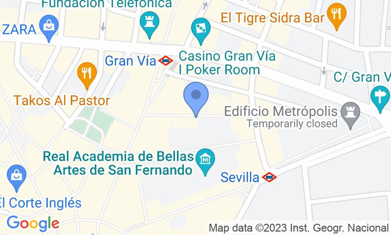 Lugar de estacionamento no mapa - Reserve uma vaga de  estacionamento no Jardines 16 - Centro Madrid - Turismos