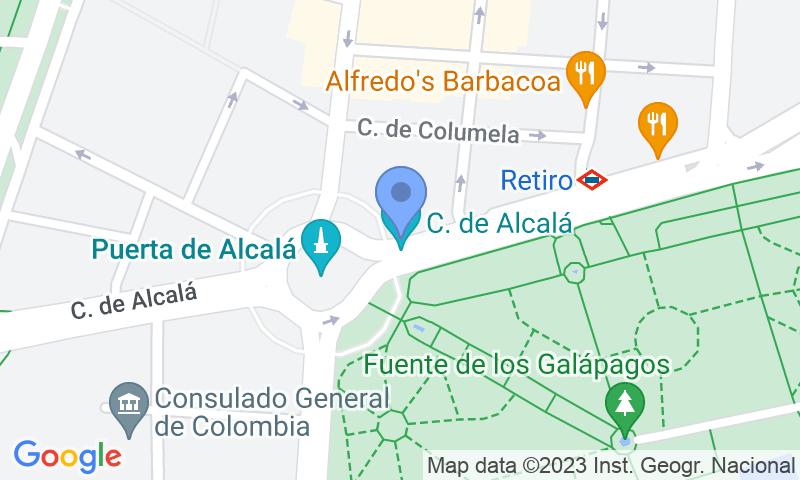 Localización del parking en el mapa - Reservar una plaza en el parking Serrano Retiro