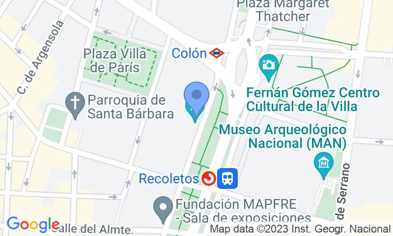 Localizzazione del parcheggio sulla mappa - Prenota un posto nel parcheggio IH Centro Colón