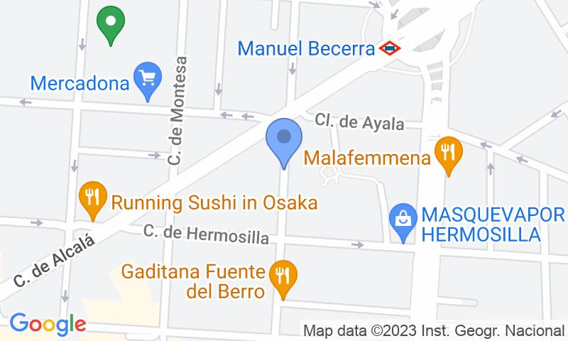 Localizzazione del parcheggio sulla mappa - Prenota un posto nel parcheggio Florauto - Alcalá