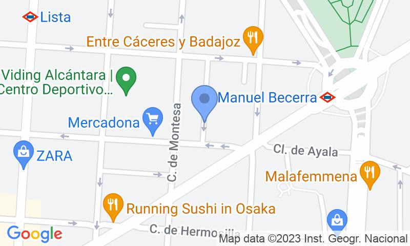 Localizzazione del parcheggio sulla mappa - Prenota un posto nel parcheggio Príncipe de Asturias - Alcalá
