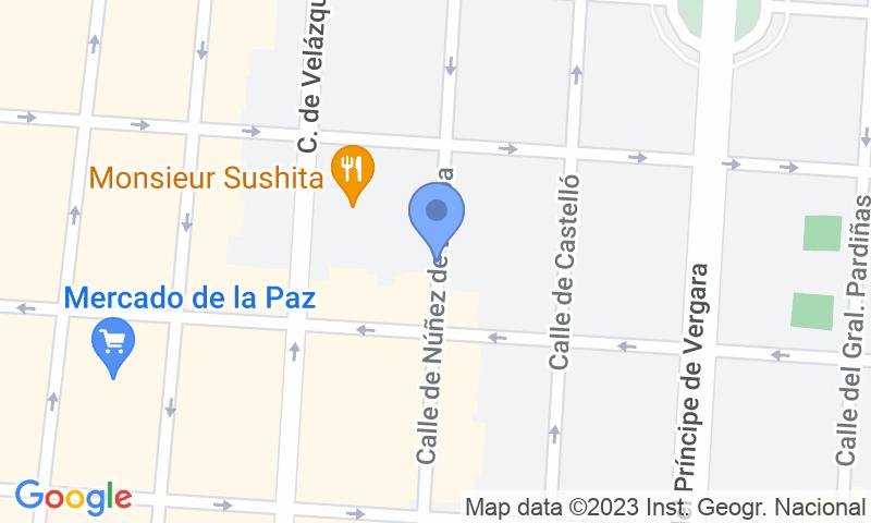 Localizzazione del parcheggio sulla mappa - Prenota un posto nel parcheggio Núñez de Balboa