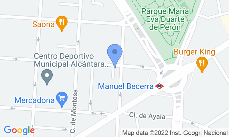 Localización del parking en el mapa - Reservar una plaza en el parking Don Ramón de la Cruz 96