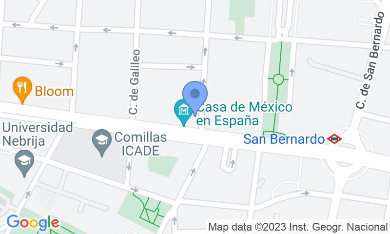 Localización del parking en el mapa - Reservar una plaza en el parking Vallehermoso