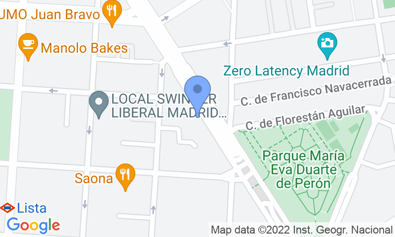 Localización del parking en el mapa - Reservar una plaza en el parking Garaje Silvela