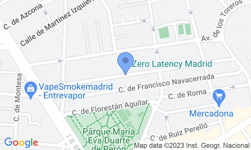 Localización del parking en el mapa - Reservar una plaza en el parking Las Ventas - Plaza de las Ventas r.