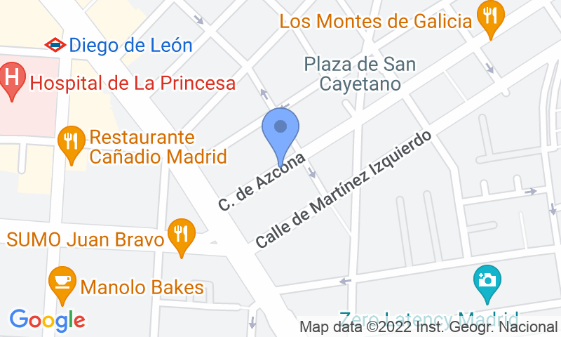 Localización del parking en el mapa - Reservar una plaza en el parking Homely - Azcona
