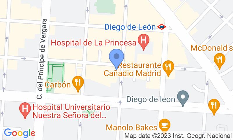 Localización del parking en el mapa - Reservar una plaza en el parking Garaje Ramos
