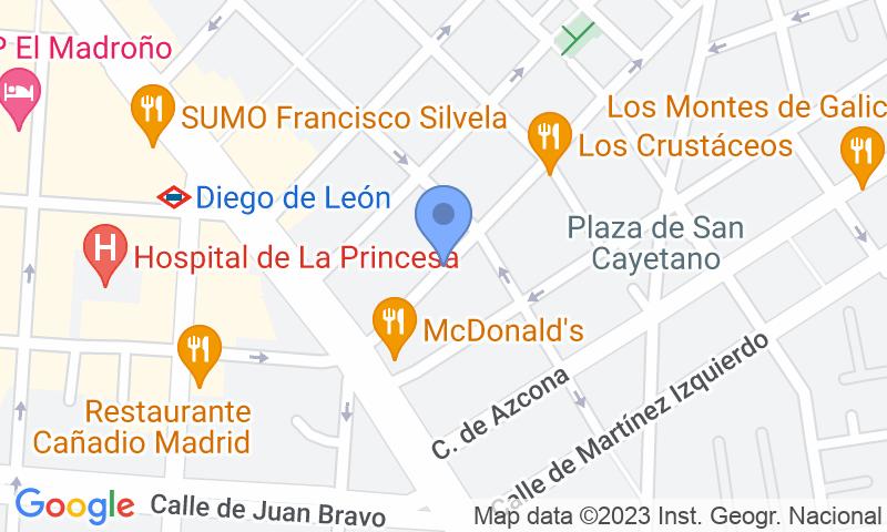 Localizzazione del parcheggio sulla mappa - Prenota un posto nel parcheggio Ferrer del Río 14