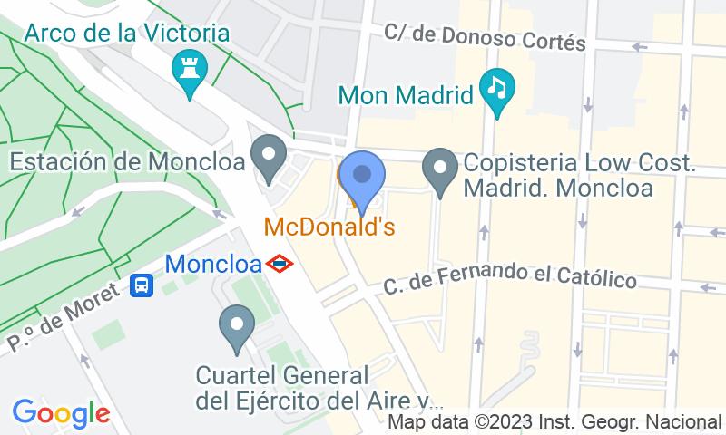 Localización del parking en el mapa - Reservar una plaza en el parking Complejo Galaxia