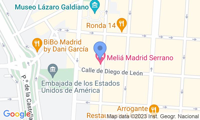 Localizzazione del parcheggio sulla mappa - Parking Calle Serrano Los Galgos