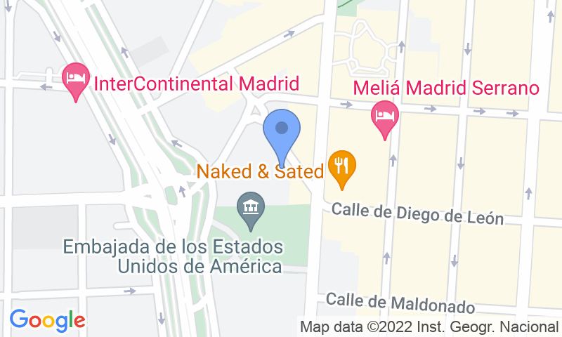 Parking location in the map - Book a parking spot in Serrano Juan Bravo car park