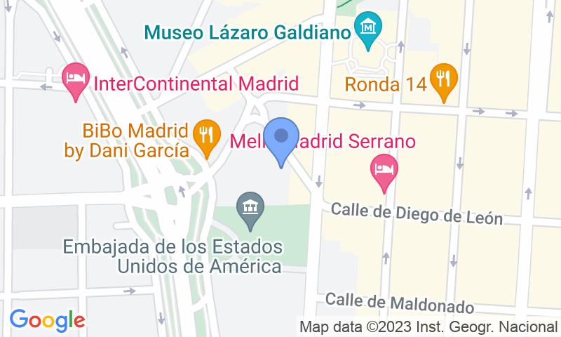 Localización del parking en el mapa - Reservar una plaza en el parking Serrano Juan Bravo