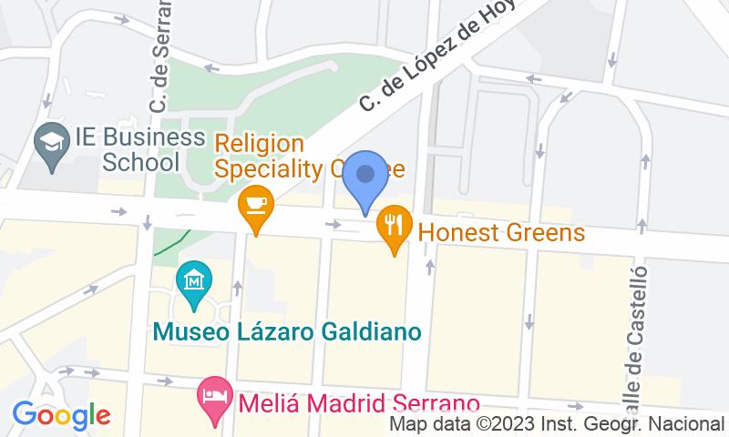 Localització del parking al mapa - Reservar una plaça al parking María de Molina - Velázquez