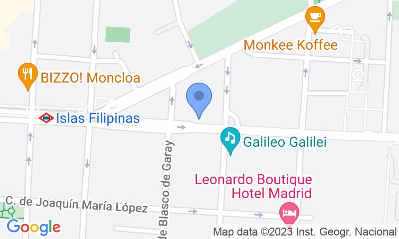 Localización del parking en el mapa - Reservar una plaza en el parking Cea Bermúdez 36