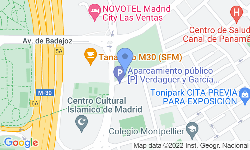 Localizzazione del parcheggio sulla mappa - Prenota un posto nel parcheggio Aparcamiento Verdaguer y Garcia