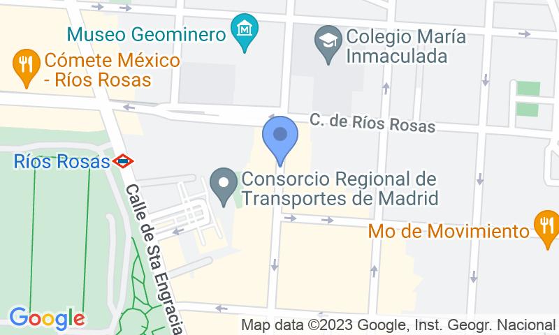 Localización del parking en el mapa - Reservar una plaza en el parking Paso - Ponzano, 54