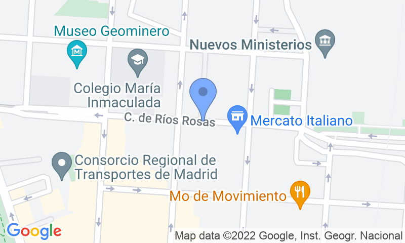 Localizzazione del parcheggio sulla mappa - Prenota un posto nel parcheggio Ríos Rosas