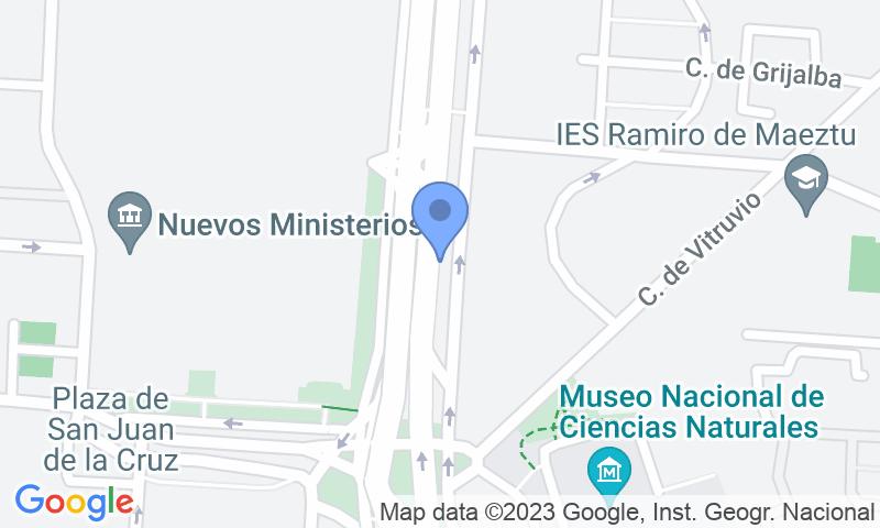 Lugar de estacionamento no mapa - Reserve uma vaga de  estacionamento no SABA Metro Nuevos MInisterios