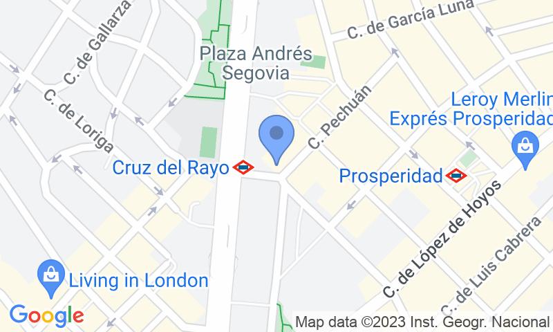 Emplacement du parking sur la carte - Réservez une place dans le parking Museo de la Ciudad