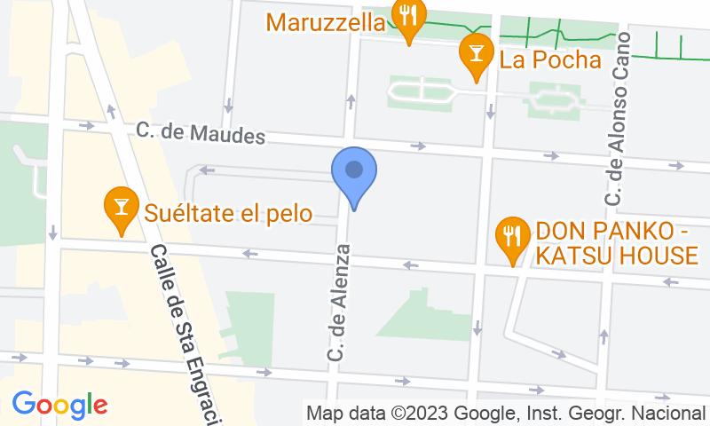Localización del parking en el mapa - Reservar una plaza en el parking IC - Alenza - Ponzano