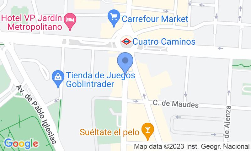 Parking location in the map - Parking Edificio Azafata - Bravo Murillo