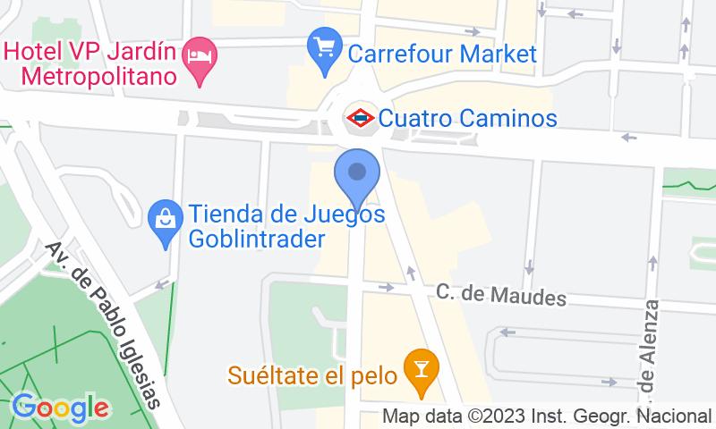 Standort des Parkplatzes auf der Karte - Parking Edificio Azafata - Bravo Murillo