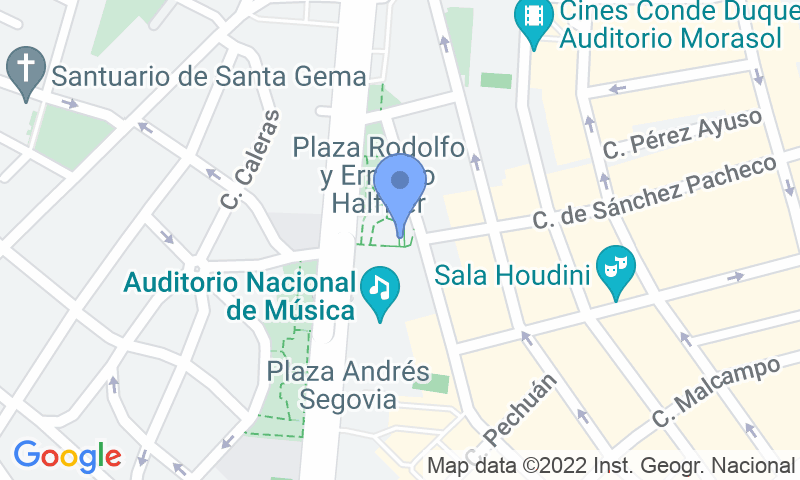 Localización del parking en el mapa - Reservar una plaza en el parking Auditorio Nacional