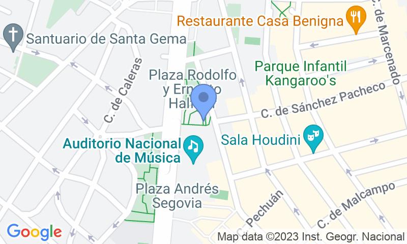 Localizzazione del parcheggio sulla mappa - Prenota un posto nel parcheggio Auditorio Nacional